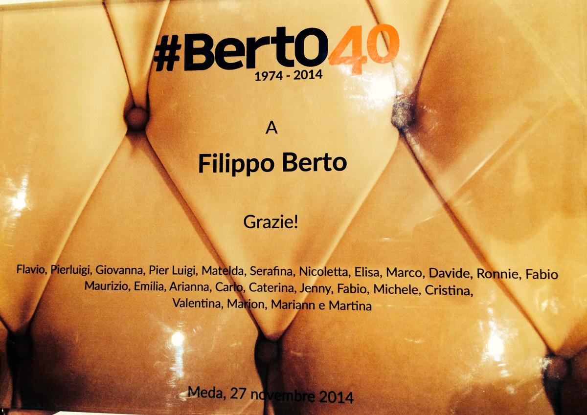 La targa a Filippo Berto
