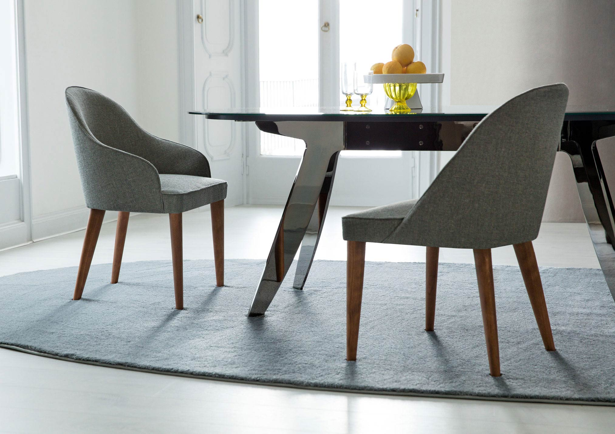Sedia in stoffa moderna Judy collezione BertO Salotti