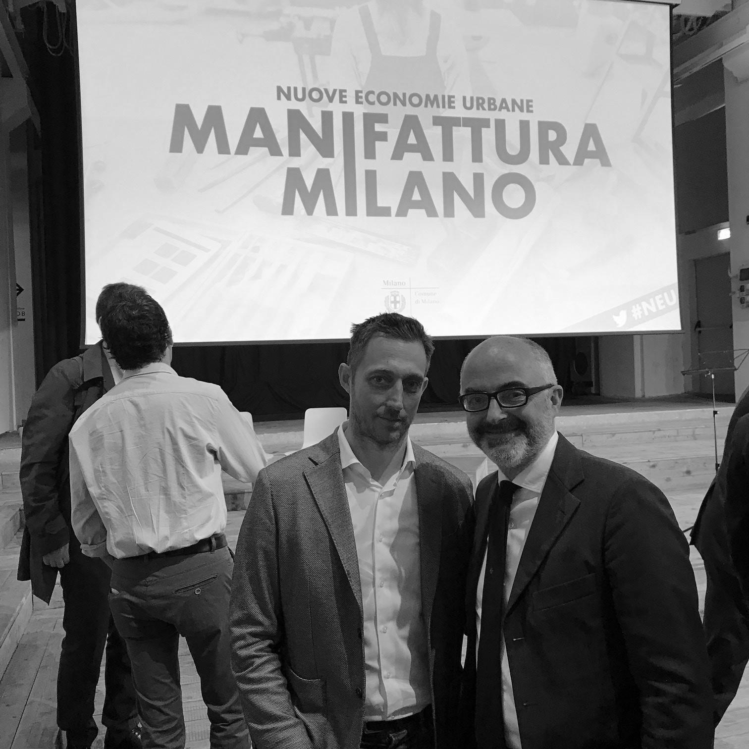 Stefano Micelli e Filippo Berto manifattura milano