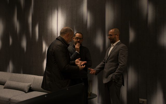 Maurizio Riva, Fabio Asnaghi Inaugurazione showroom BertO Torino