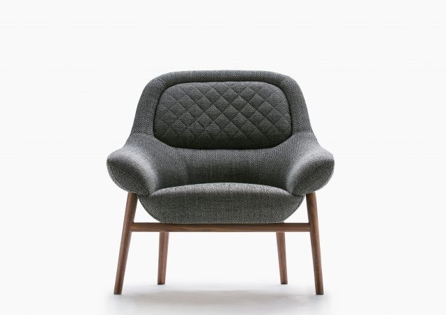 fauteuil Hanna structure bois massif berto salotti online