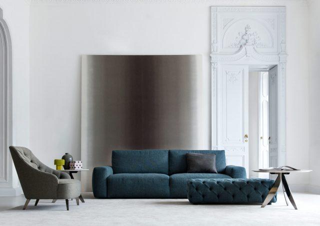 divano johnny in tessuto blu berto salotti
