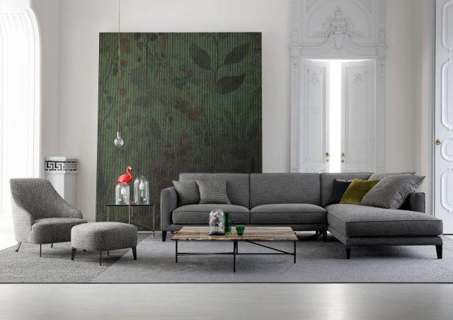 Time Break sectional sofa berto salotti made in italy