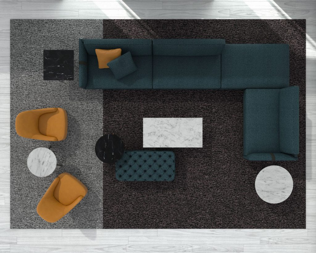 Диван по дизайну Dee Dee БертО  с предметами интерьера Коллекции БертО 2021