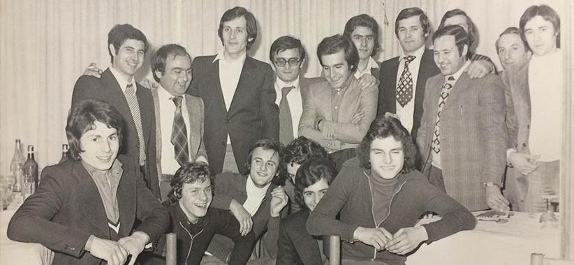 Фиораванте и Карло Берто в британце в 70-все годы