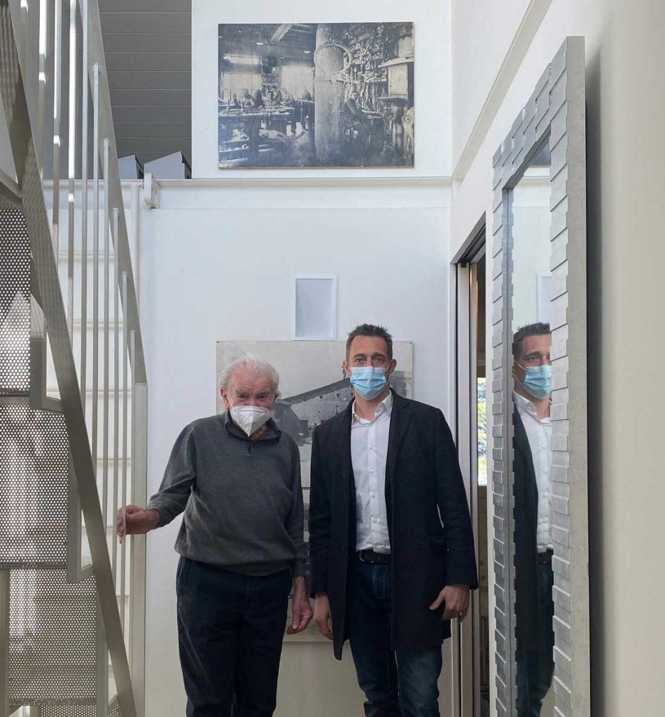 Встреча Еудженио Бога и Филиппо Берто для проекта сделано в Меде