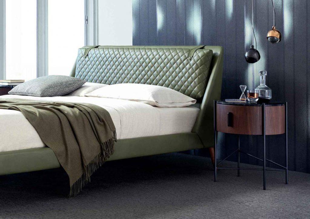 Спальня БертО - Кожаная кровать Chelsea