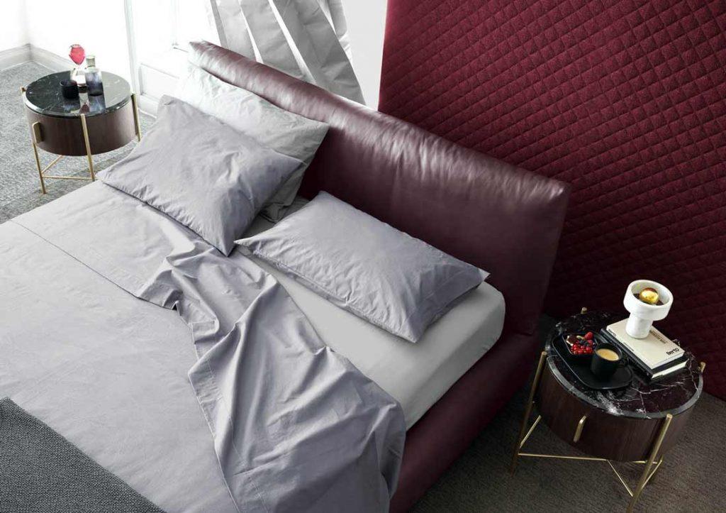 Набор простыни из серого хлопка Yoko элегантно одевают кожаную кровать Сохо